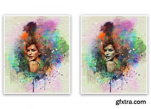 CreativeMarket - Vintage Watercolor Photoshop Action 5533890