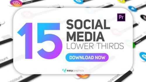 Videohive - Simple White Social Media Lower Thirds