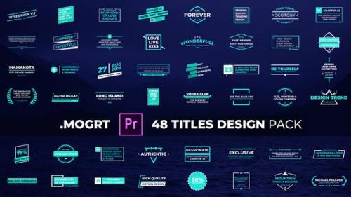Videohive - Titles Design Pack
