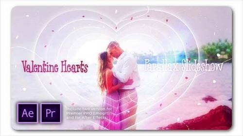 Videohive - Valentine Hearts Parallax Slideshow