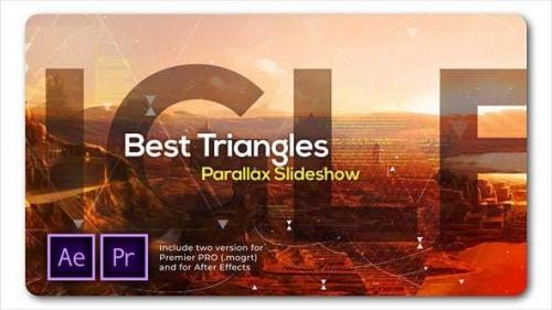 Videohive - Best Triangles Parallax Slideshow