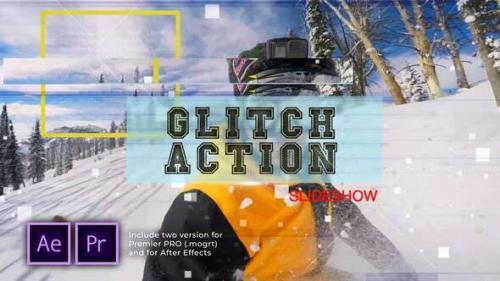 Videohive - Glitch Action Slideshow