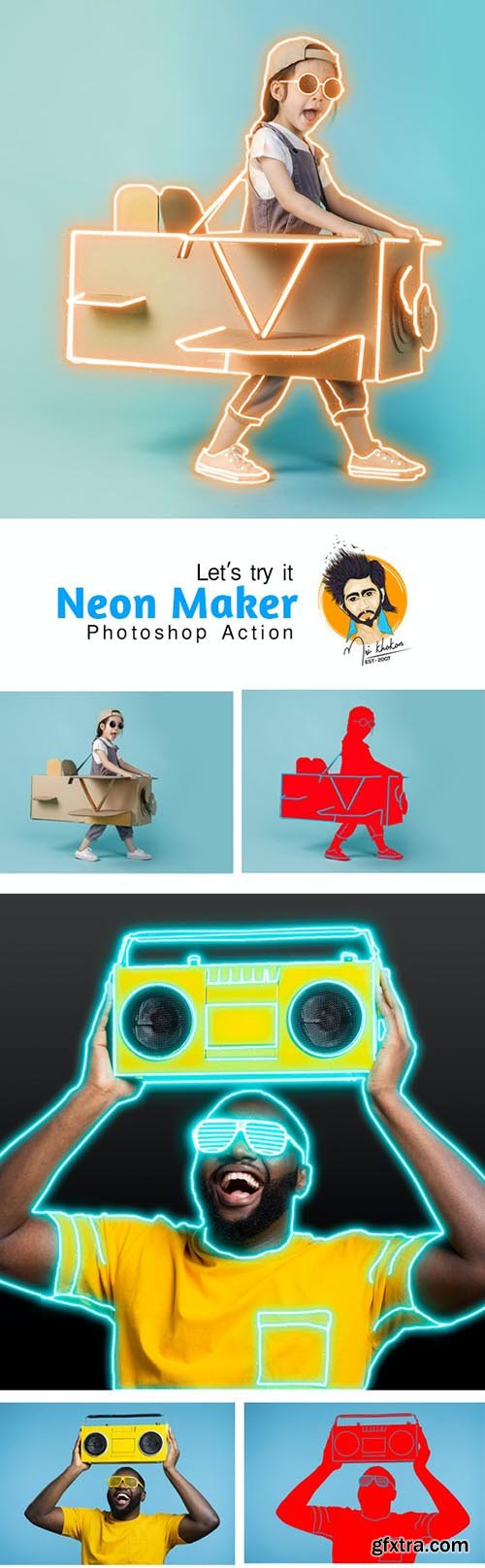 GraphicRiver - Neon Maker Photoshop Action 29732242