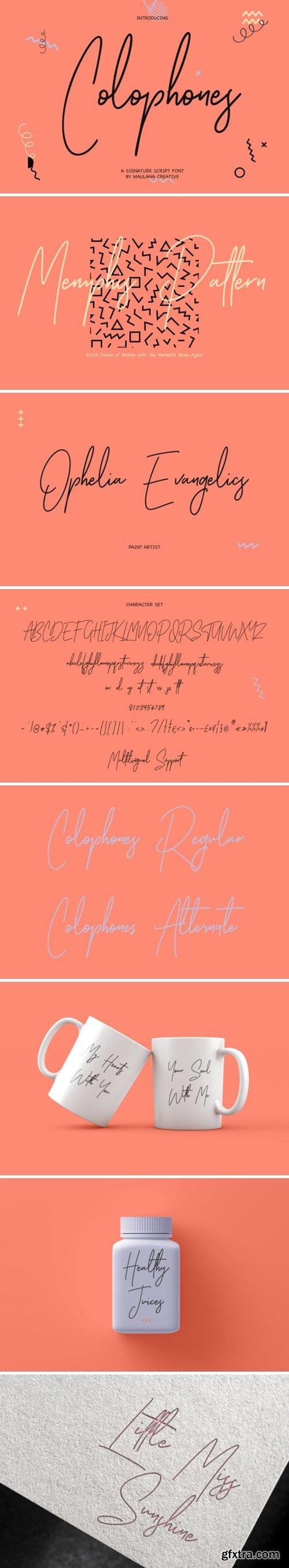 Colophones Font