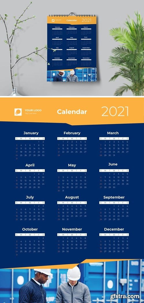 Dynamic Yellow Calendar