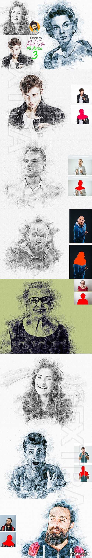 CreativeMarket - Artistic Pencil Sketch PS Action 5442874