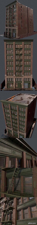 Old USA building 3D model