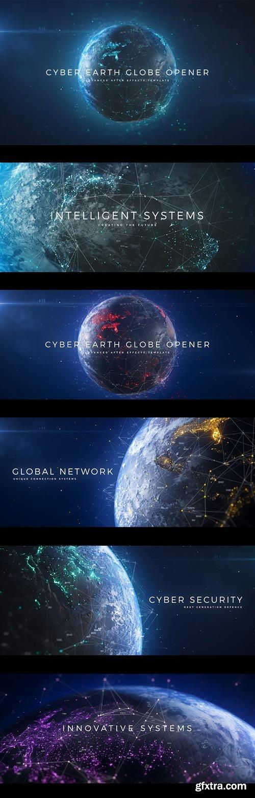 Videohive - Cyber Earth Globe Opener - 29647647