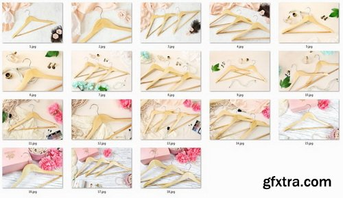 ETSY - Wooden Hangers Stock Photo Bundle