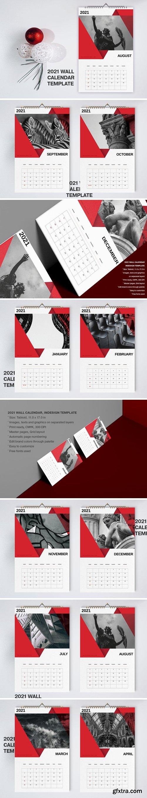 Red Calendar 2021 Template