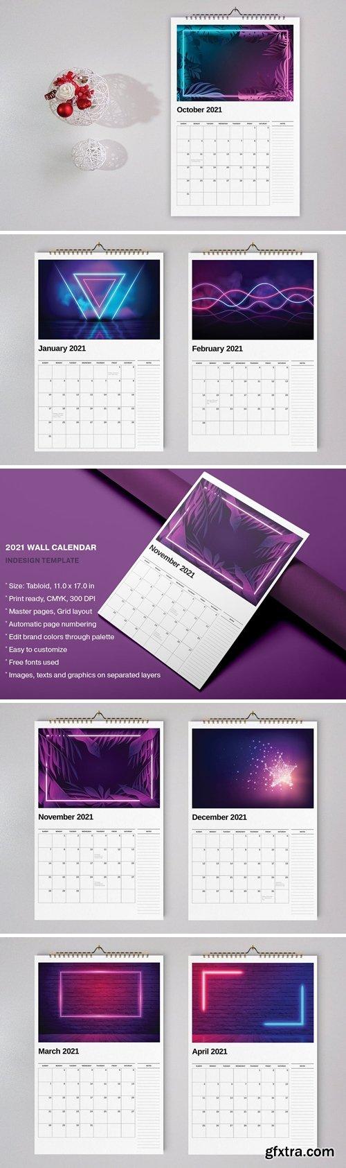 Wall Calendar 2021 Template