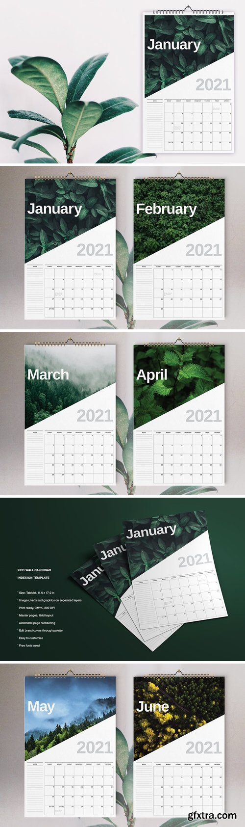 Nature Calendar 2021 Template