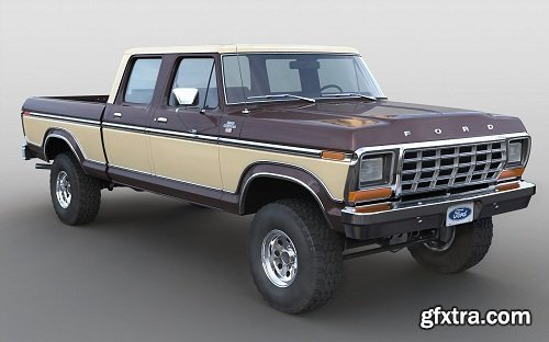 Ford F-250 Crewcab 1978 3d Model