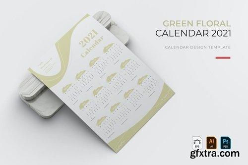 Green Floral | Calendar