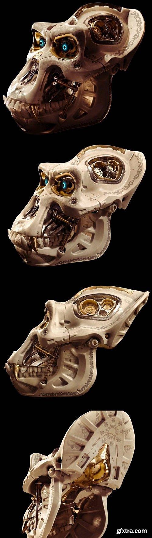 Battle Gorilla Skull