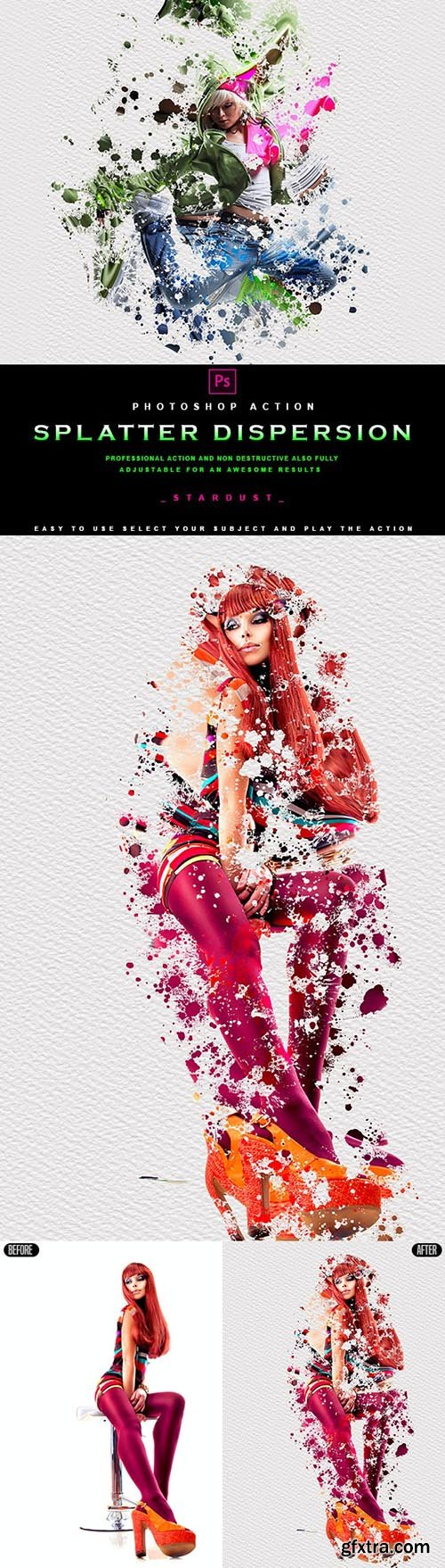 GraphicRiver - Splatter Dispersion - Photoshop Action 29859938