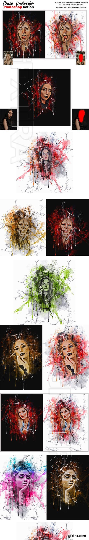 CreativeMarket - Crake Watercolor Photoshop Action 5679034