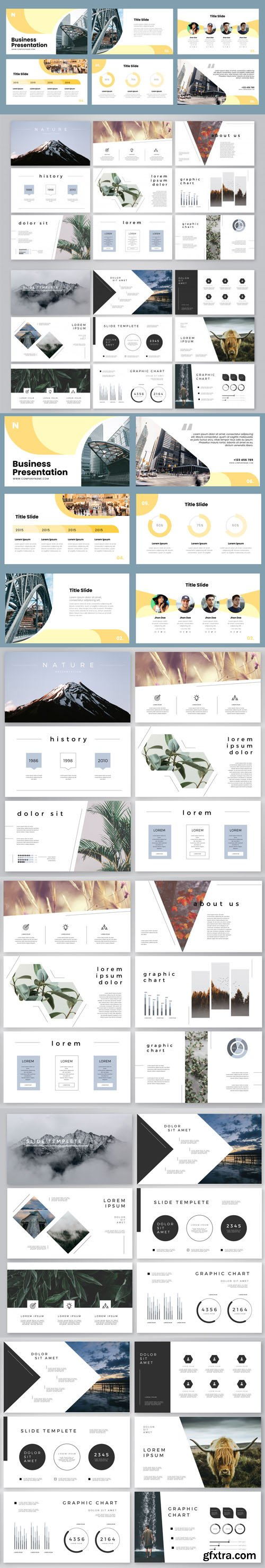 24 Business Presentation Slides Vectors Templates