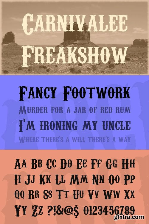 Carnivalee Freakshow - High Quality Western Display Font