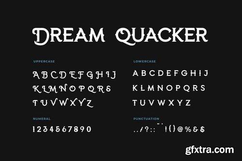 Dream Quacker Serif Display Font