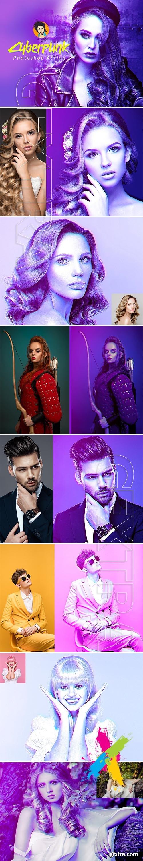 CreativeMarket - Cyberpunk Photoshop Action 5734504