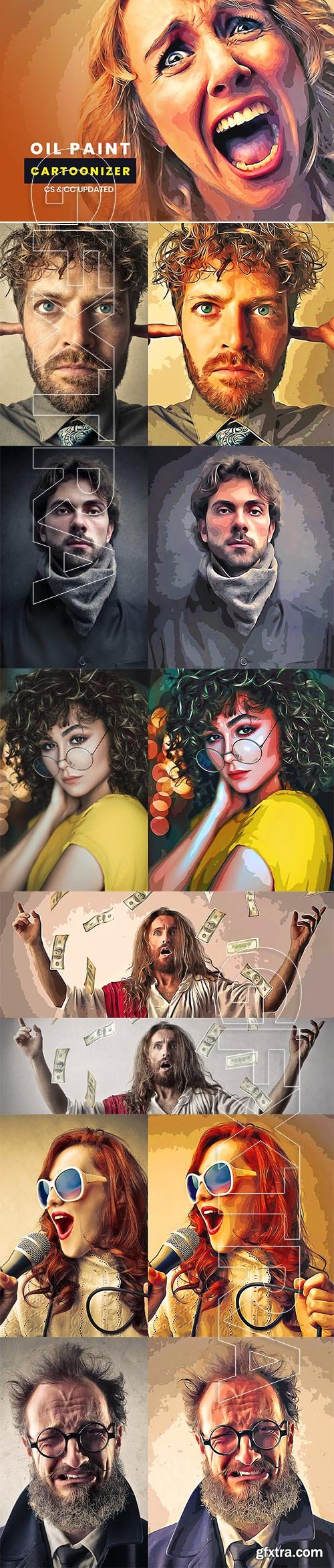 CreativeMarket - Oil Paint Cartoonizer 5507645