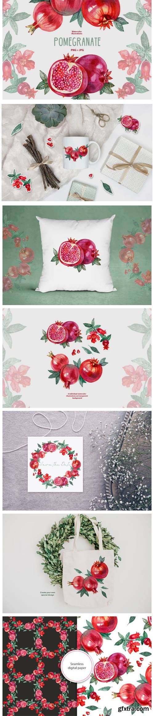Watercolor Pomegranate 7156905
