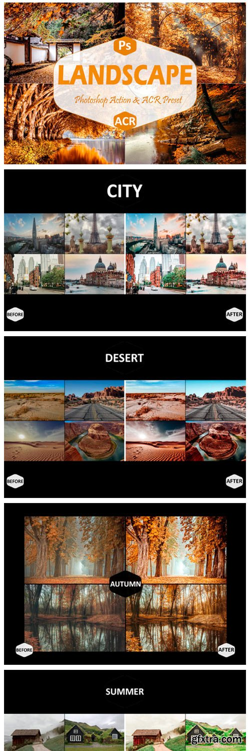 40 Landscape Photoshop Actions and ACR 7100197