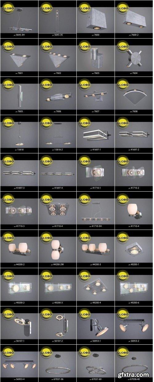 GLOBO Lighting 3D Models