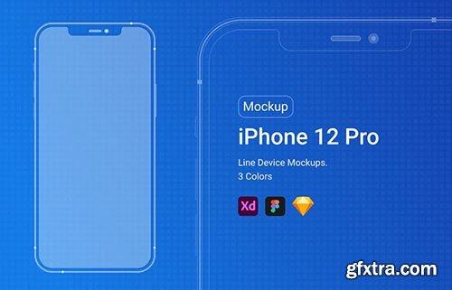 iPhone 12 Pro Line Mockup