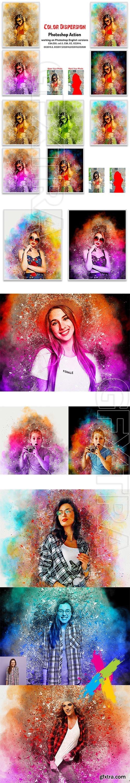 CreativeMarket - Color Dispersion Photoshop Action 5730753