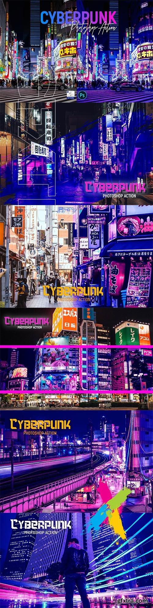 CreativeMarket - Cyberpunk | PSD action 5726360