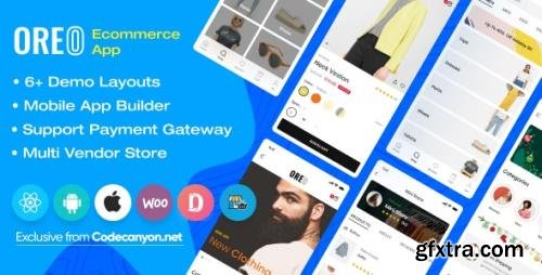 CodeCanyon - Oreo Fashion v2.4.0 - Full React Native App for Woocommerce - 24951657 - NULLED