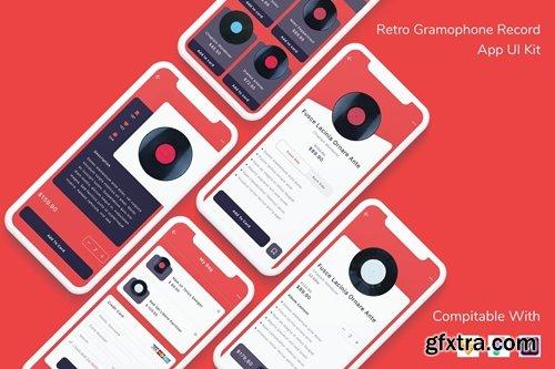 Retro Gramophone Record App UI Kit