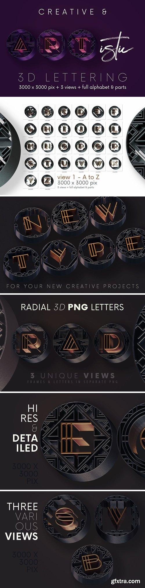 Artdeco Radial - 3D Lettering