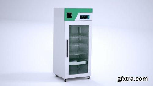 3D Laboratory Refrigerator