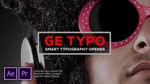 Videohive - The Typo Smart Opener