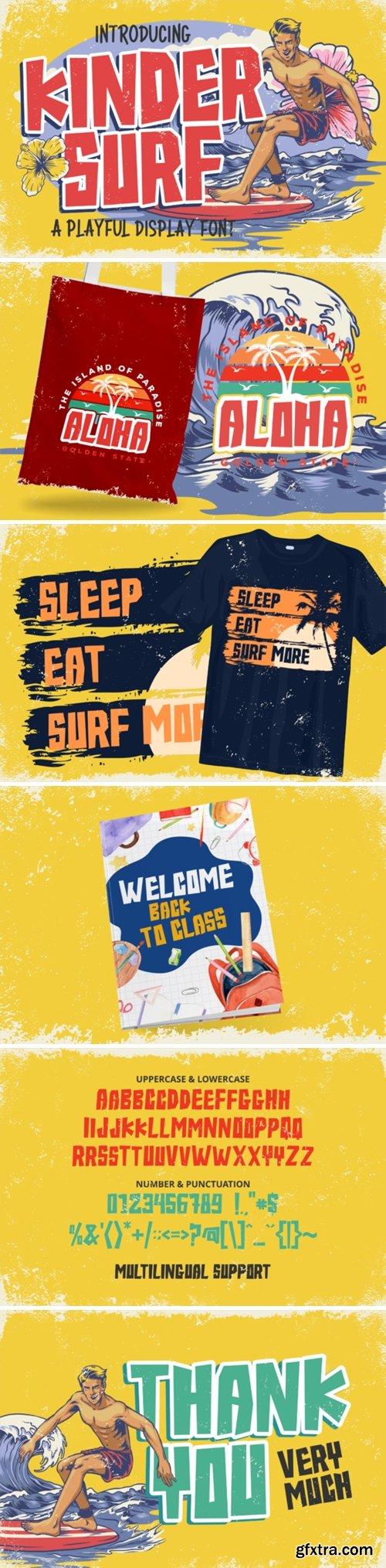 Kinder Surf Font