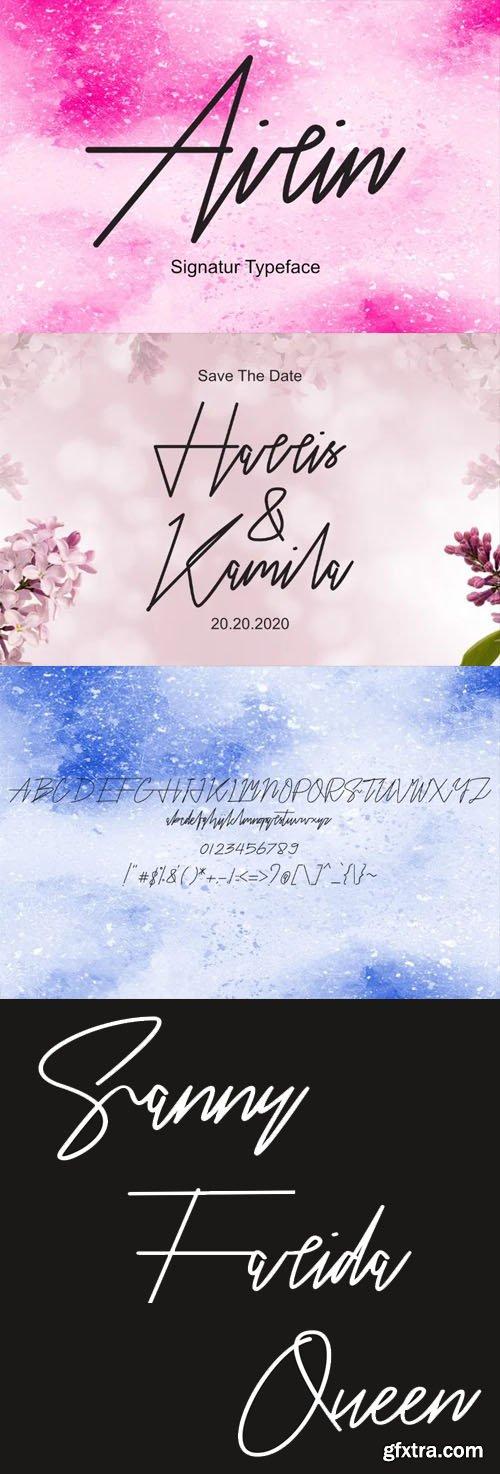 Airin Signature Script Handwritten Font
