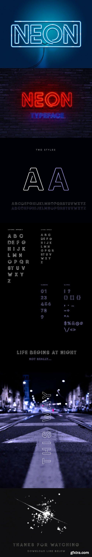 Neon Glowing Display Typeface
