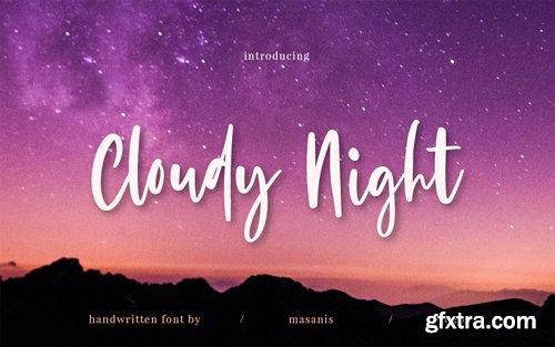 Cloudy Night - Stylish Handwritten Font