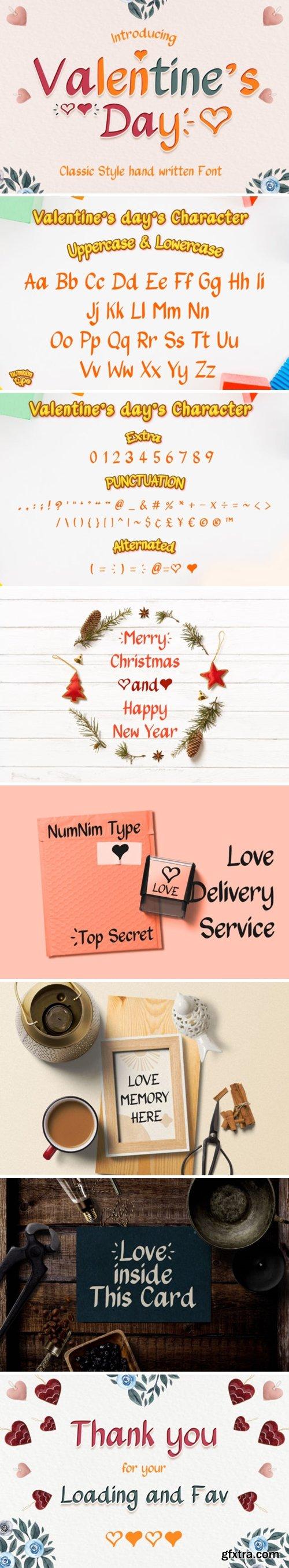 Valentine\'s Day Font