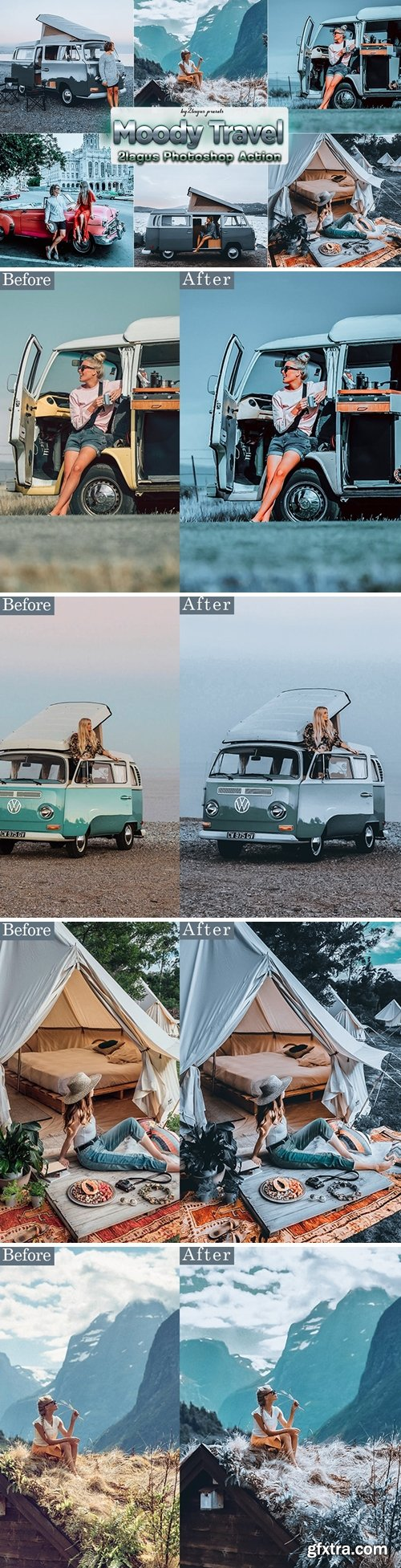 Moody Travel Photoshop Actions