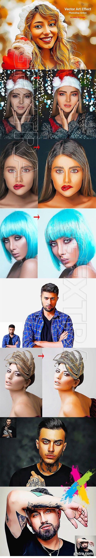 CreativeMarket - Vector Art Effect Photoshop Action 5106475