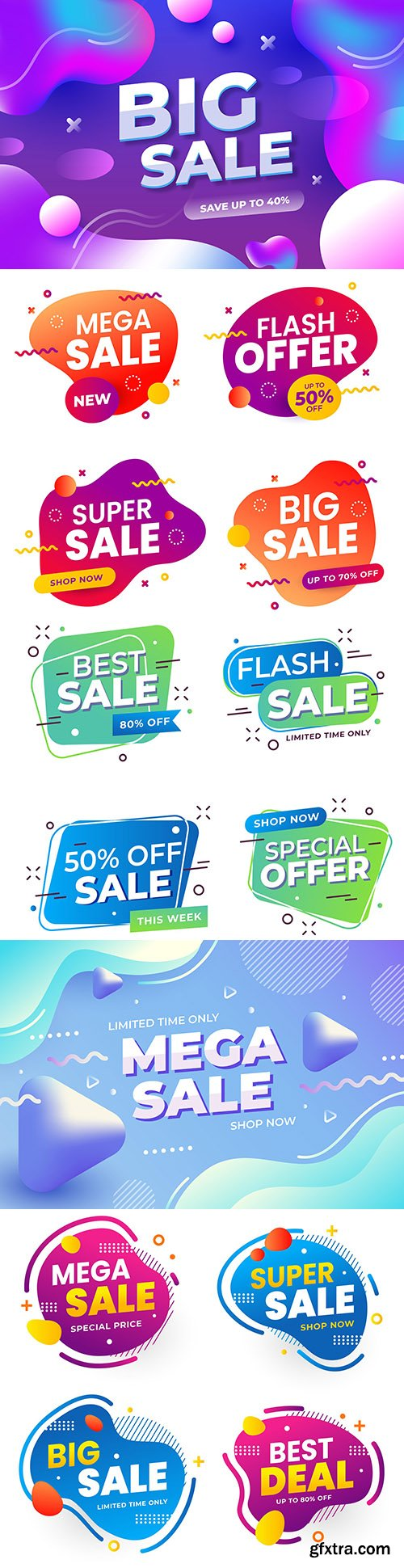 Colorful abstract banner special sales design