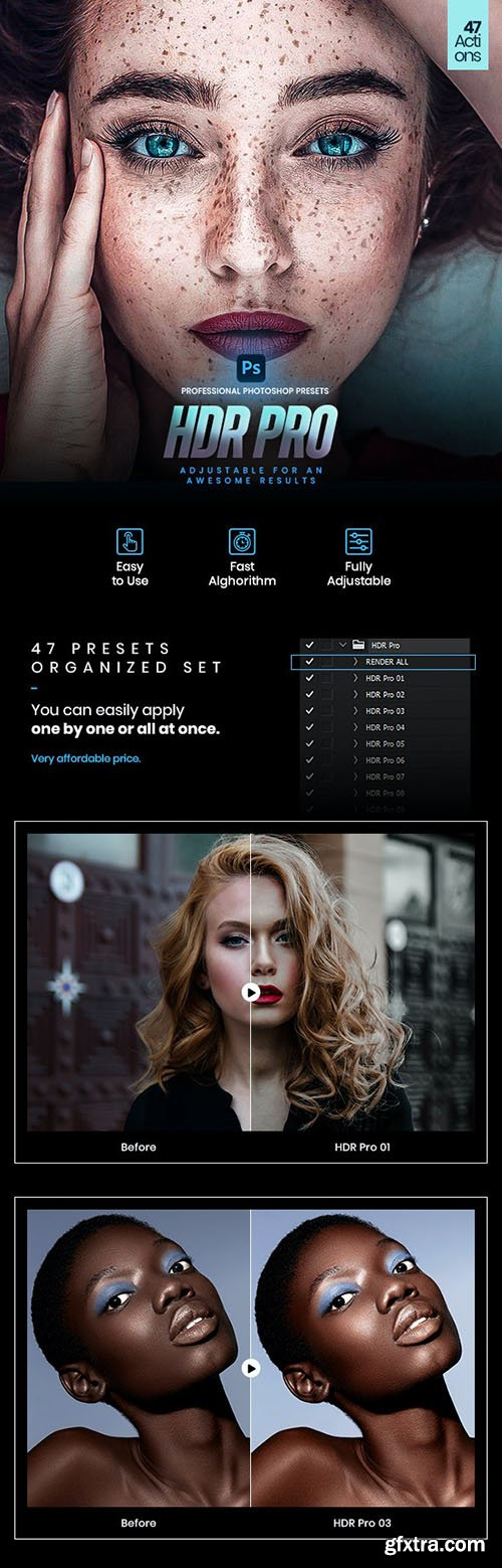 GraphicRiver - 47 HDR Pro Photoshop Actions 29829502