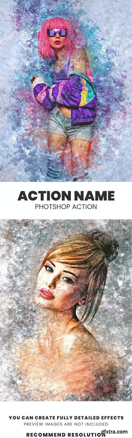 GraphicRiver - Grunge Ice Photoshop Action 29846975