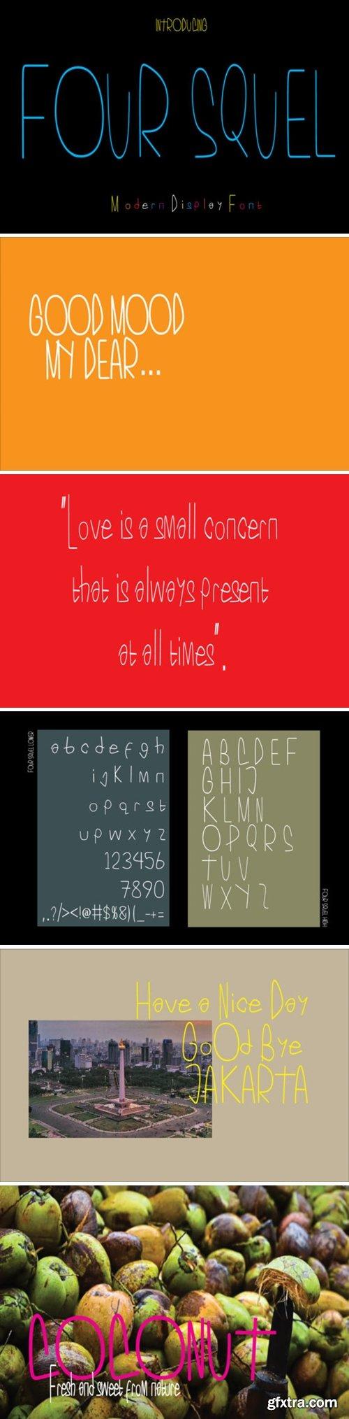Four Squel Font