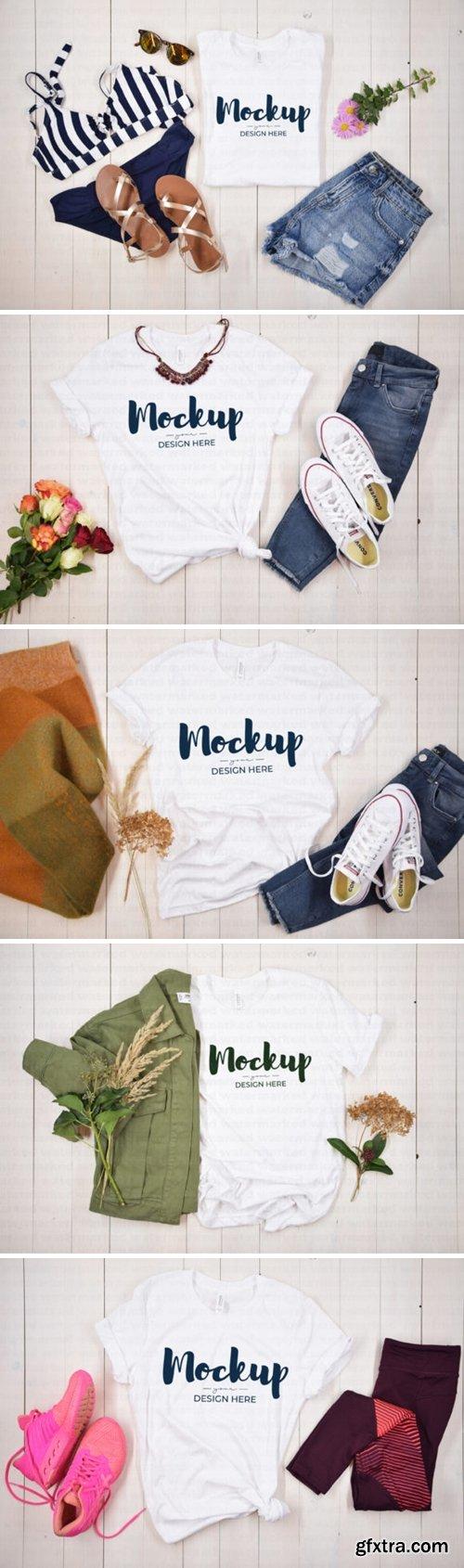 Mega White Shirt Mockup Bundle 7754688