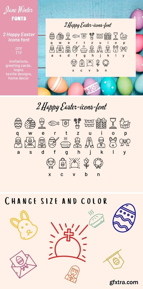 Happy Easter Icons Font